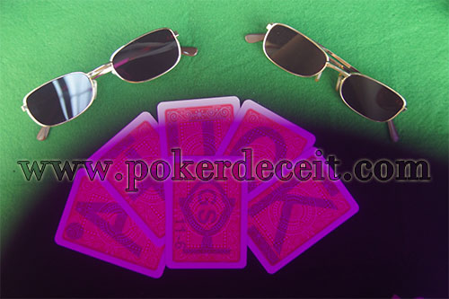 Infrared marked cards glasses