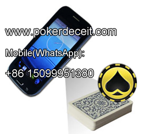 Iphone 4 cell phone playing cards scanner