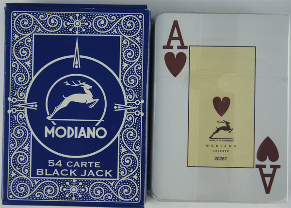 modiano black jack marked decks