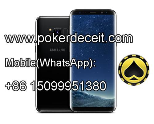 Samsung cell phone with HD poker scanning camera inside